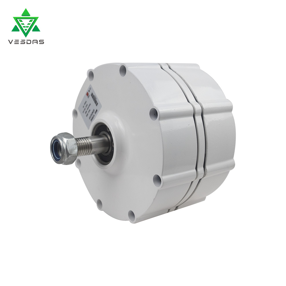 800W 12V or 24V or 48V Permanent Magnet Generator AC Alternator 500r/m for Vertical or Horizontal Wind Turbine