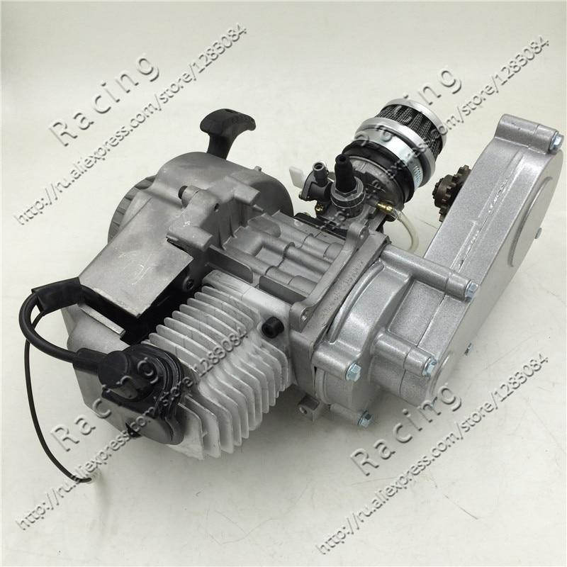 Moteur 49cc avec boîte de transmission/clearner d'air et carburateur pour moto de saleté marque KXD LIYA HIGHPER SURPLUS NITRO SSR 30 RACING