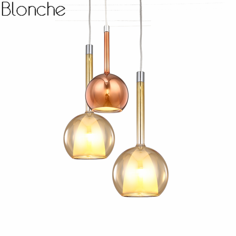 Modern Glass Pendant Lights Led Hanglamp Loft Industrial Luminaire for Dining Room Kitchen Bar Lamp Home Lighting Fixtures Decor modern glass led pendant light hanglamp loft retro kitchen lamp metal industrial bedroom bar home lighting fixture pendant light
