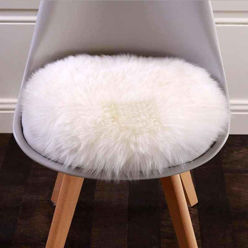 30*30cm suave alfombra de piel sintética de oveja silla cubierta dormitorio Alfombra de lana Artificial caliente peluda alfombra asiento Textil alfombras de pelo