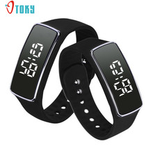 Fashion Young Men Womens Watches Silicone LED Sport Bracelet Touch Digital Wrist Watch Creative Apr19