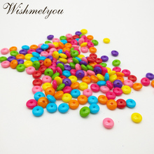 WISHMETYOU 8mm Colorful Acrylic Loose Beads For Kids Diy Handmade Bracelets Decor Crafts Accessories Clothes Jewelry Make