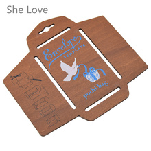 Она любит ручной трафарет деревянный конверт шаблон авиапочтой для ремесла скрапбукинга DIY Новинка ручной работы