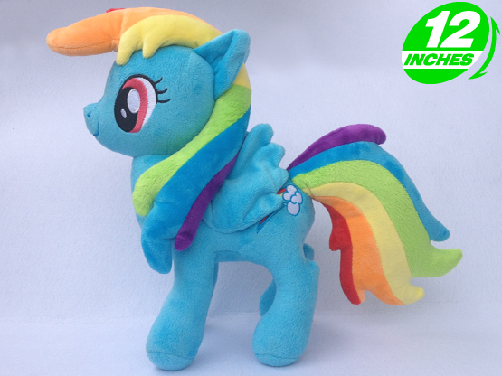 Ty Beanie Boos Big Eyes Soft Stuffed Animal Unicorn Horse Plush Toys Doll  Rainbow Dash 46732c00030f