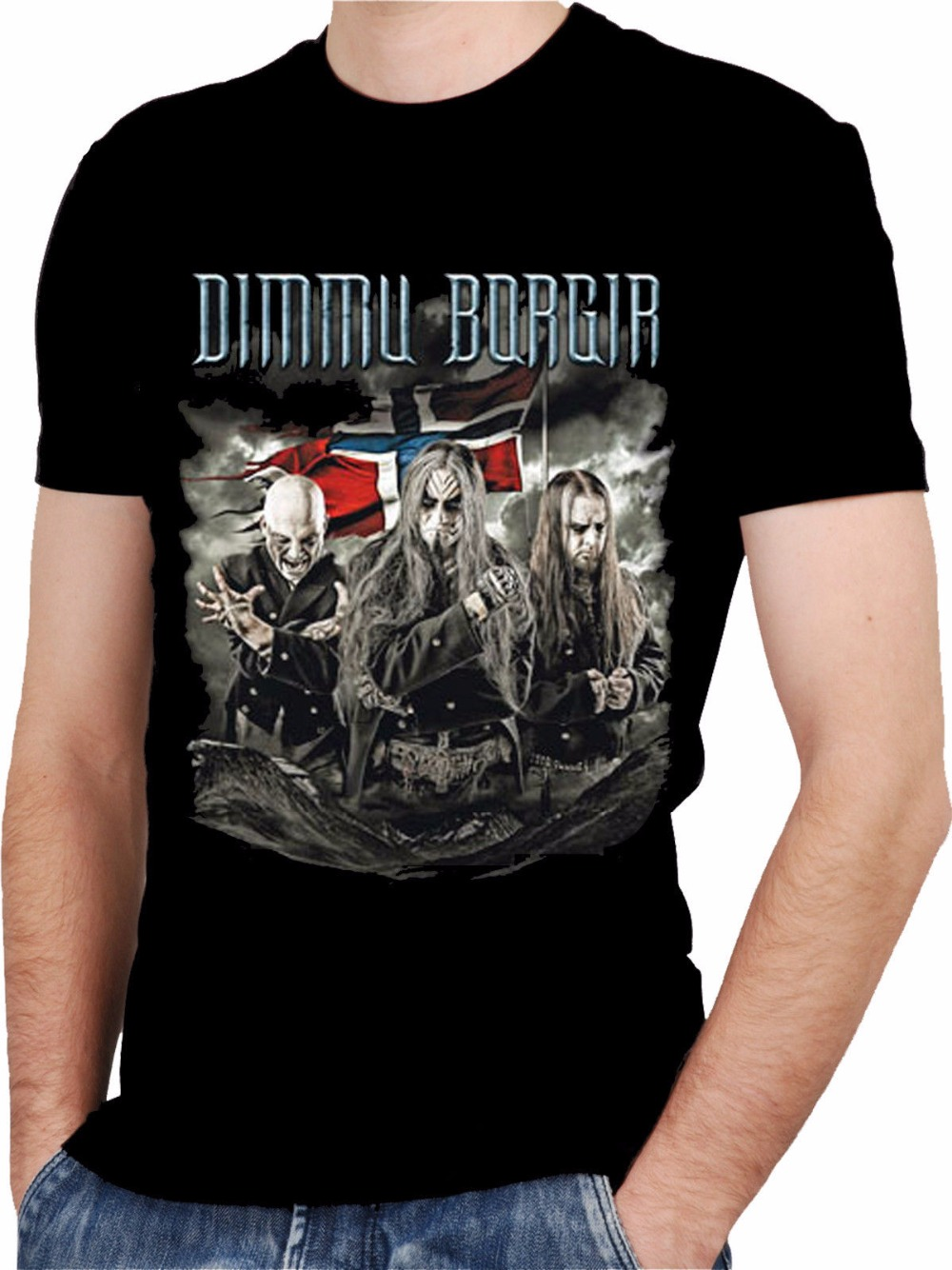 Cheap Tee Shirts Short Dimmu Borgir Band Black T-Shirt Rock T-Shirt Rock Band Shirt Rock ...