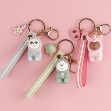2019 New Popular Nude key chain pig car creative pendant unicorn ring decorative arts gift to women Hot