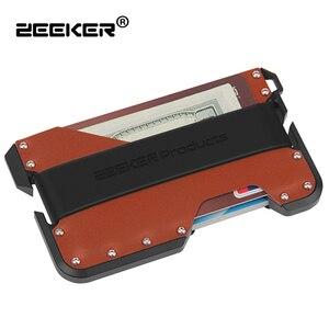 Image 2 - Zeeker 슬림 rfid 블로킹 가방 여성용 정품 가죽 핸드백