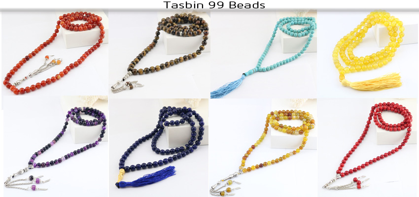 Islamic muslim tasbih black  bracelet Round Shape beads Prayer beads Islamic Muslim Tasbih Allah Rosary