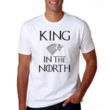 Juego de tronos Rey reina en el norte camisetas San Valentín hombres mujeres pareja ropa amantes Camisetas divertidas Camisetas