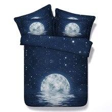 Yeekin moon star galaxy de alta calidad juegos de cama 3/4 pcs universo espacio ultraterrestre niños/adultos dormitorio textiles para el hogar decoración so cool