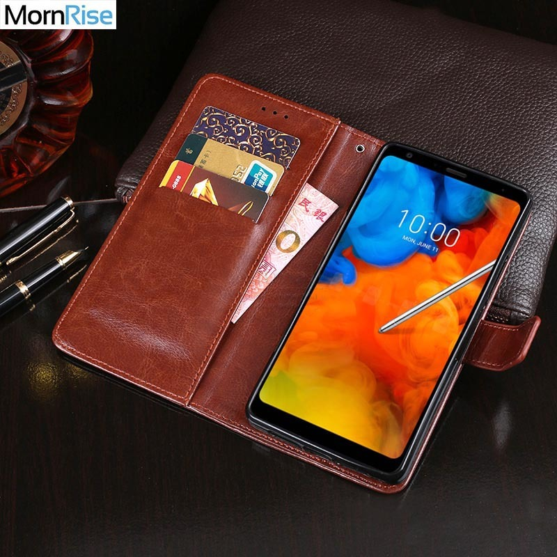 Business Style Luxury Vintage PU Leather Flip Cover For LG Q Stylus Case Wallet Card Pocket Kickstand Mobile Phone Bags Coque
