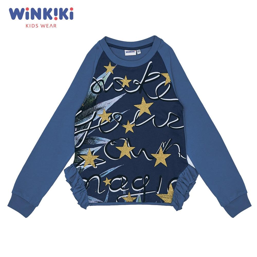 Hoodies & Sweatshirts Winkiki WJG82148 children clothing kids Cotton Pink Girls Casual цена
