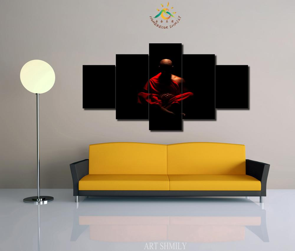 3 4 5 Pieces Monk Pictures Modern Wall Art Pictures HD Printed ...