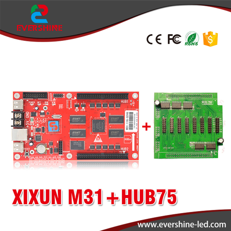 XIXUN M31 Full Color LED Video Display Control Card for Outdoor Led display Screen led advertising board with Hub75 adapter Card p5 outdoor waterproof hd led display screen p5 rgb led display panel 3in1 smd2525 full color led board