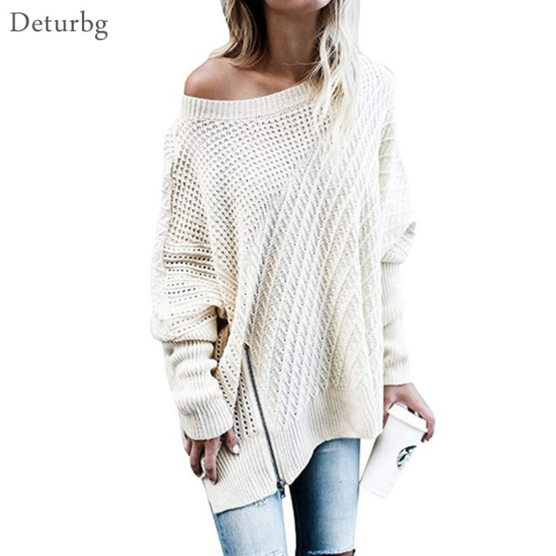 c31d5f5899 Women Sexy Off Shoulder Sweaters and pullovers Ladies Fashion Oversized  Knitted Pink Sweater Jumpers 2018 Autumn Winter SW157