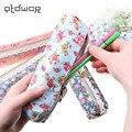 Прямоугольная Сумка для ручек  элегантная и красивая простая холщовая кружевная Цветочная сумка-карандаш  чехол-карандаш  4 стиля