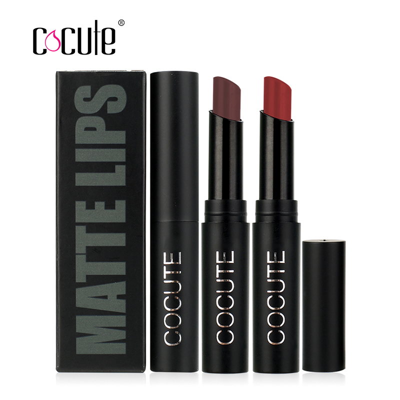 Cocute Long-lasting Matte Lipstick Moisturizer Lips Makeup Cosmetics Waterproof 15 Color Easy to Wear Nude Sexy Lip Stick 2.5g  4