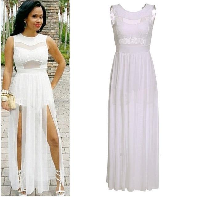 Long maxi club dresses