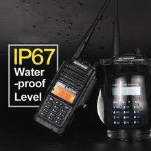 Baofeng BF A58 radio walkie talkie waterproof IP 67 UHF VHF dual band CB radio for hunting 5W 128CH 2 way radio