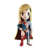 4D XXRAY Master Female Superman Mighty Jaxx Jason Freeny Superhero Dissection Action Figure Collection Model Doll G2241