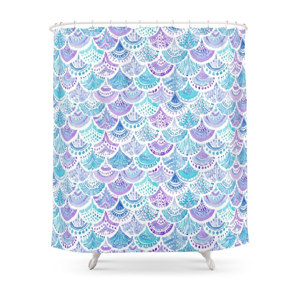 Mermaid Scale Shower Curtain Us 18 87 30 Off Mystical Mermaid Daydreams Watercolor Scales Shower Curtain Waterproof Bathroom Shower Curtains Shower In Shower Curtains From Home