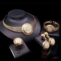 الهندي نمط مجوهرات مجموعة من قلادة تصميم رخيصة حفل الزفاف مجموعات المجوهرات الذهب تصفيح