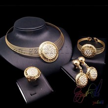 Indian style jewelry set of choker design Cheap Bridal Party Jewelry Sets Gold Plating