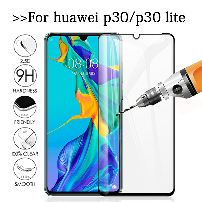 For huawei p30 lite tempered glass huawey p 30 lite 6.15'' screen protector p 30 light 30lite p30lite protective glas Film Cover