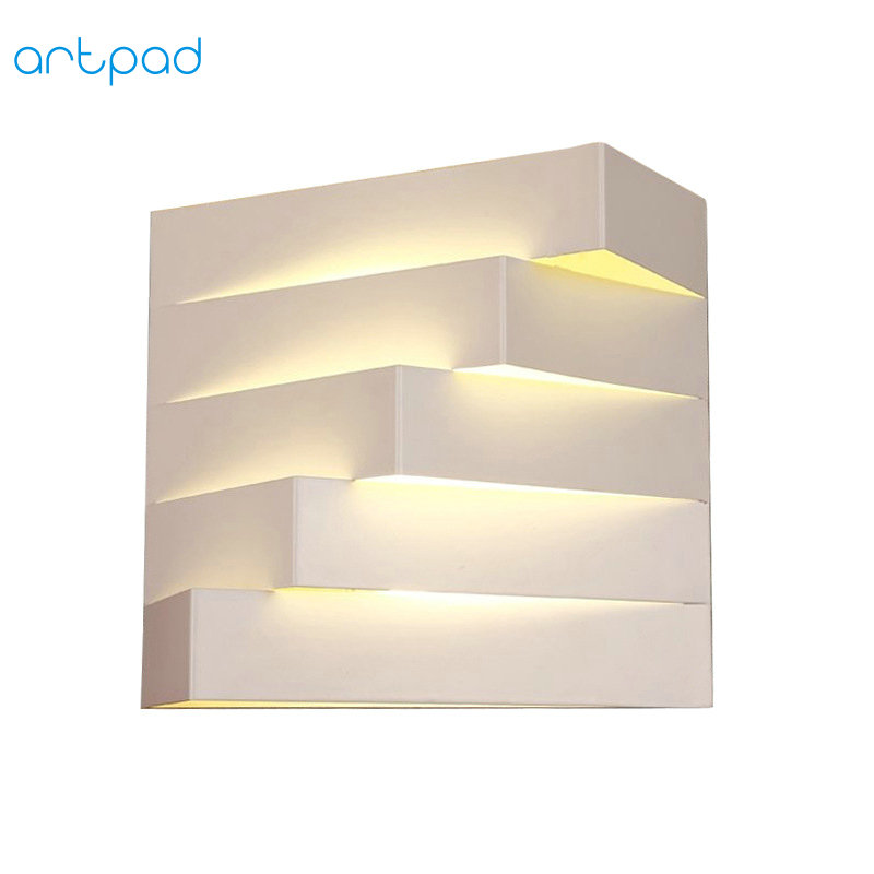 Artpad Art Design Bedroom Wall Lamps Indoor Modern Fixtures Metal Sconces E27 LED Living Room Lamp for Stair Balcony Lighting modern aluminium wall lamp sconces with fluorescent tube for bedroom study balcony lighting bg44