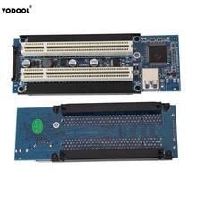 Cartão adaptador vodool pci e express x1 para dual pci riser, cabo usb3.0 para win2000/xp/vista/win7/win8/linux adicionar cartão