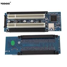 VODOOL PCI E Express X1 to Dual PCI Riser Extend Adapter Card with 1M USB3.0 Cable for WIN2000/XP/Vista/Win7/Win8/LINUX Add Card