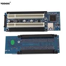 VODOOL PCI-E Express X1 to Dual PCI Riser Extend Adapter Card with 1M USB3.0 Cable for WIN2000/XP/Vista/Win7/Win8/LINUX(China)