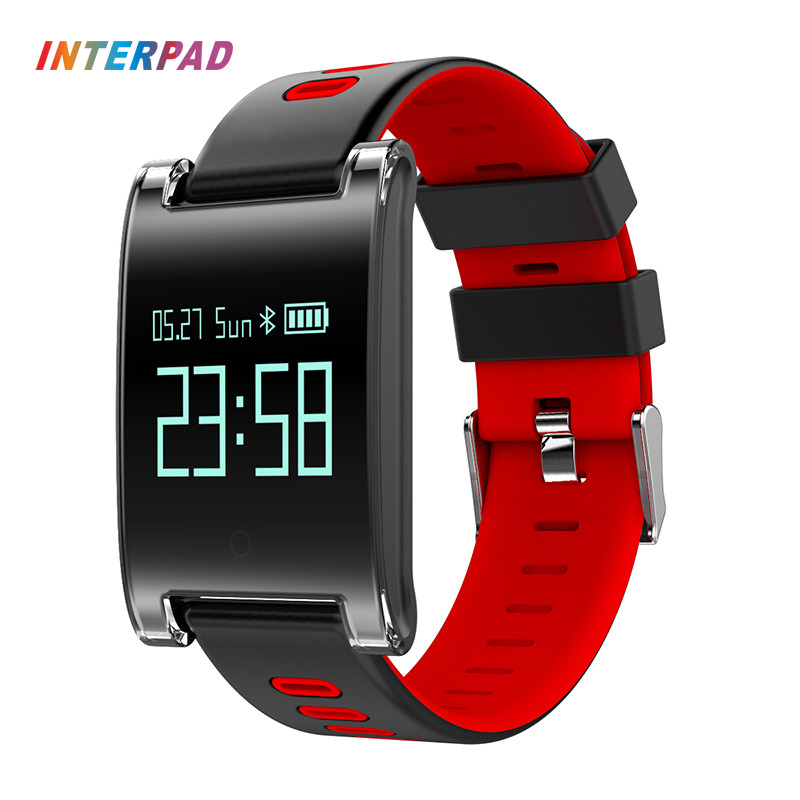 2017 Interpad DM68 Plus Smart Wristband Blood Pressure Heart Rate Monitor Fitness Tracker Smart Band For Android iOS Phone