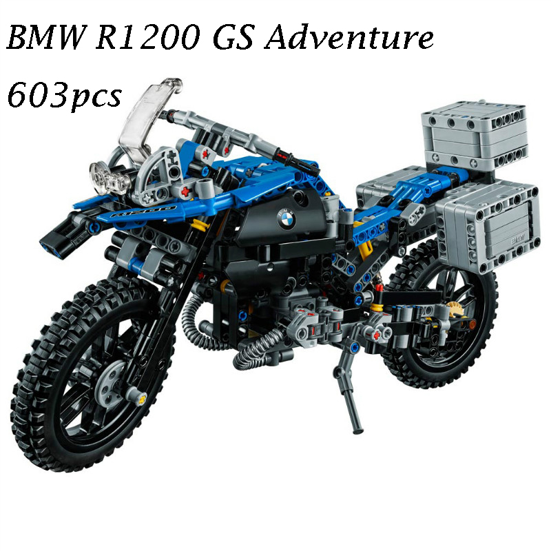 20032 Technic Off-road Motorcycles R1200 GS Model Building Blocks Blick toy for children Kids gift Compatible with lego 42063 конструктор lego 42063 техник приключения на bmw r 1200 gs