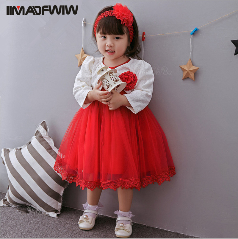 2017 New Baby Dress Hundred Days Infant Lace Cotton Dress 0-3 Years Princess Girls Dress Color Red For  Spring Summer garcia marquez g one hundred years of solitude