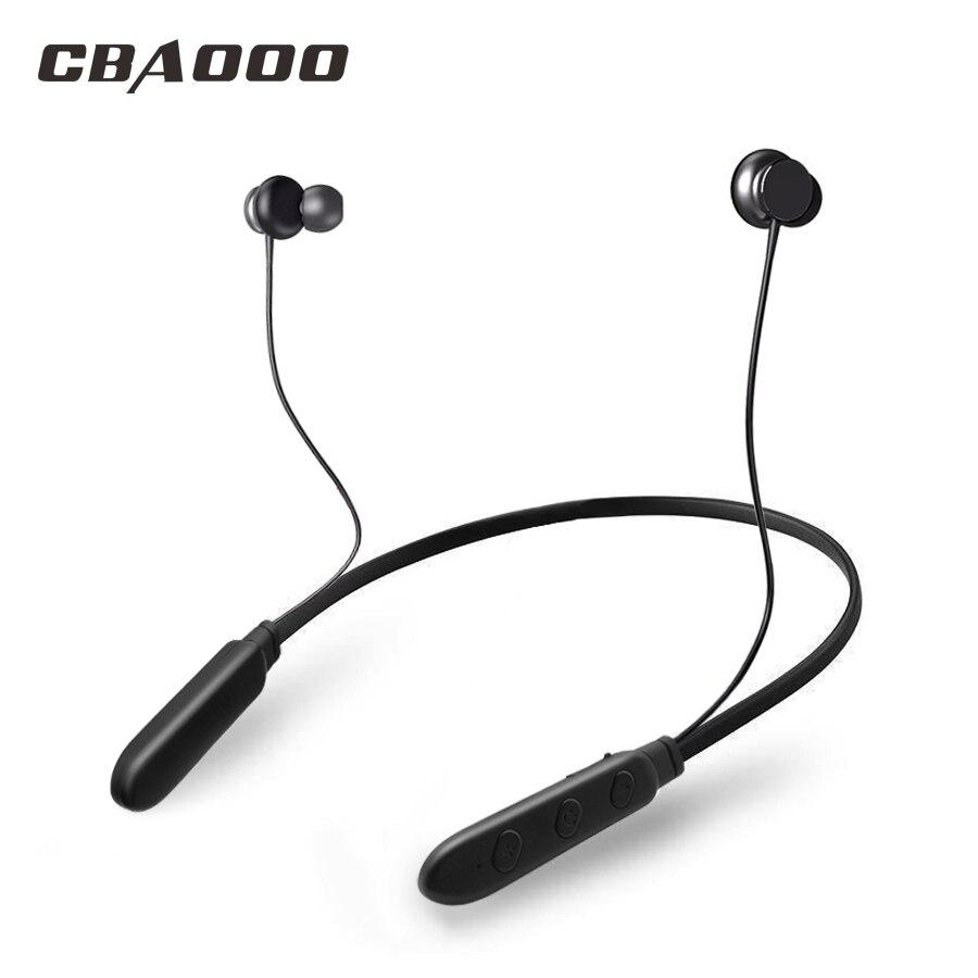 CBAOOO 130 mA Sport Bluetooth Écouteurs Antibruit Sans Fil Casque tour de Cou Basse Magnétique Casque Pour iPhone xiaomi