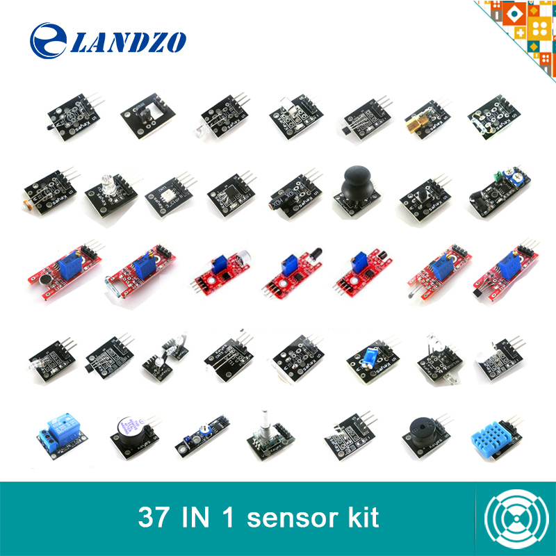 Free Shipping! 37 in 1 <font><b>Sensor</b></font> Kit For Arduino Starters <font><b>keyes</b></font> brand high-quality (Works with Arduino Boards)
