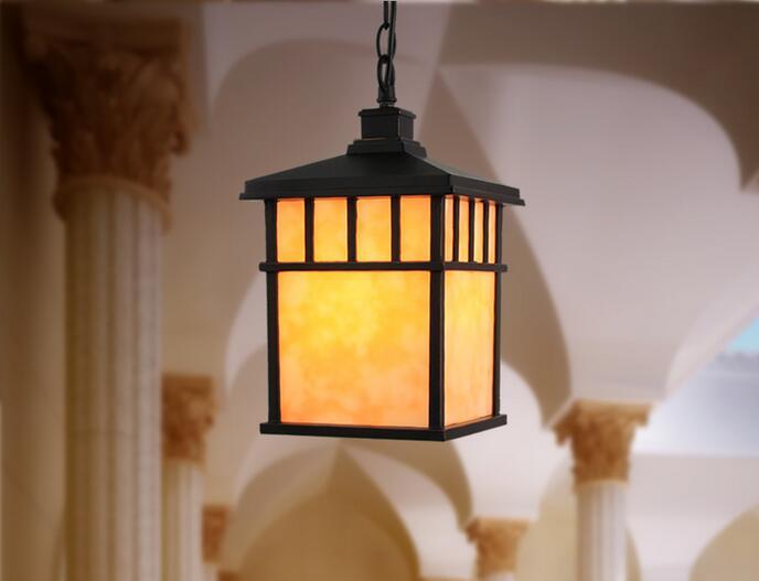 Китайская простая квадратная алюминиевая люстра, наружная влагостойкая люстра, вилла, садовый потолочный светильник ZL524