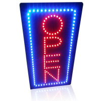10 19 Inch Animated Motion LED Business Vertical Open Sign On Off Switch Bright Light Neon