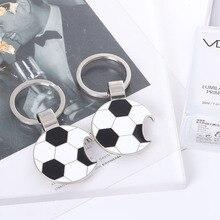 Metal Keychain Football Bottle Opener Gift Men Women Soccer Star Club Fans Silver Toy