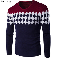 New Winter Autumn Slim Fit Men S Sweater Spell Color Fashion Cardigan Sweater Men Casual Round