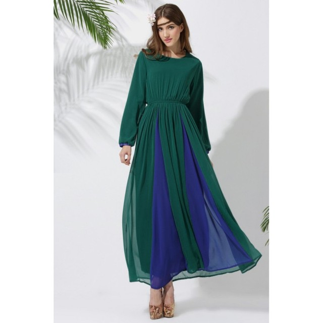 Винтаж Кафтан Jilbab Исламской Мусульманских Женщин Абая Коктейль Длинное Платье Из Шифона