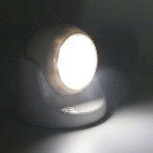 Image 2 - 9 נוריות 360 תואר סיבוב אור חיישן לילה אור סוללה מופעל מסדרון קיר לילה אור לארון מוסכים מסדרון