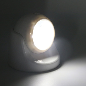 Image 2 - 9 LEDs 360 stopni obrót lampa z czujnikiem ruchu czujnik lampka nocna na baterie obsługiwane na ścianę w korytarzu lampka nocna do szaf garażowych przedpokój