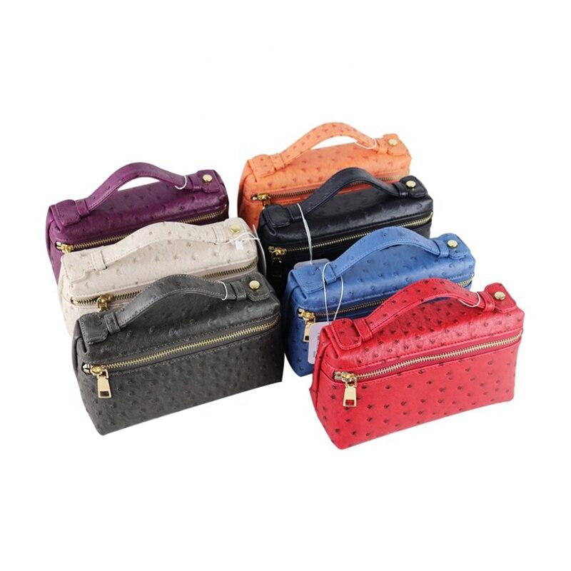 Harting wedding luxury party ostrich leather ladies clutch evening bag women handbag Storage Bags     - title=