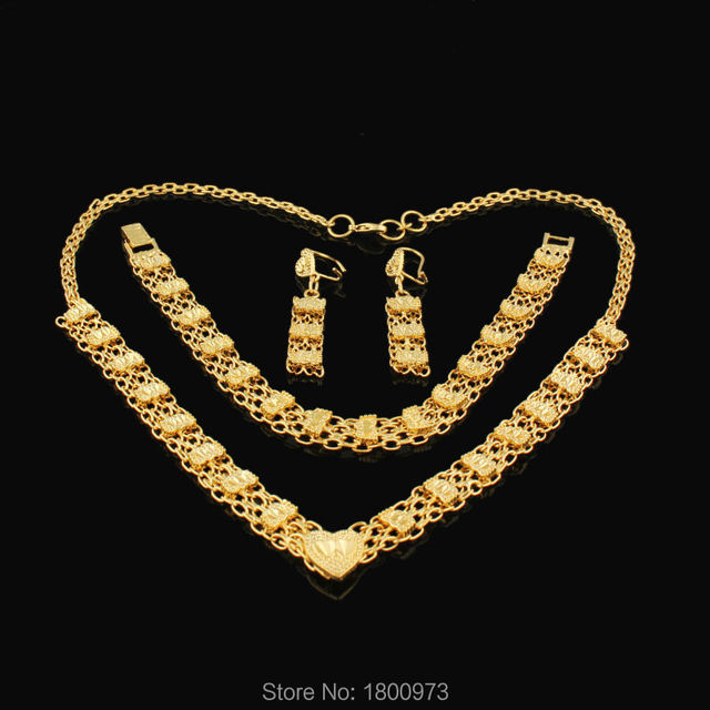 Traditional Ethiopian wedding jewelry sets Gold Filled Necklace