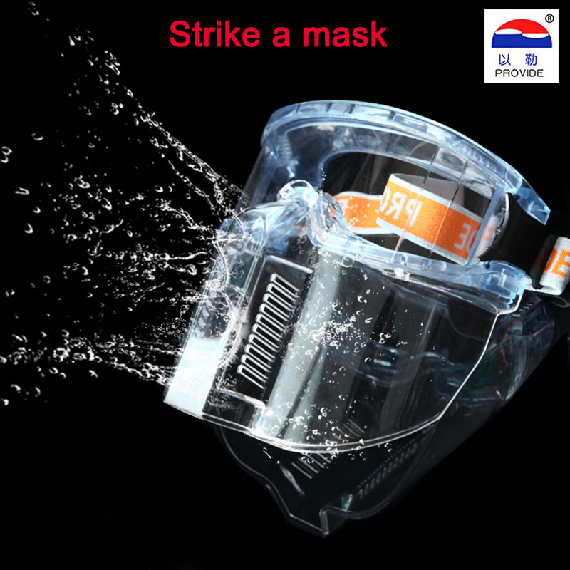 PROVIDE New Anti-impact Head-mounted Goggles Mask Splash Goggles Combo Acid Anti- Dust Masks Labor Insurance Wholesale Shipping