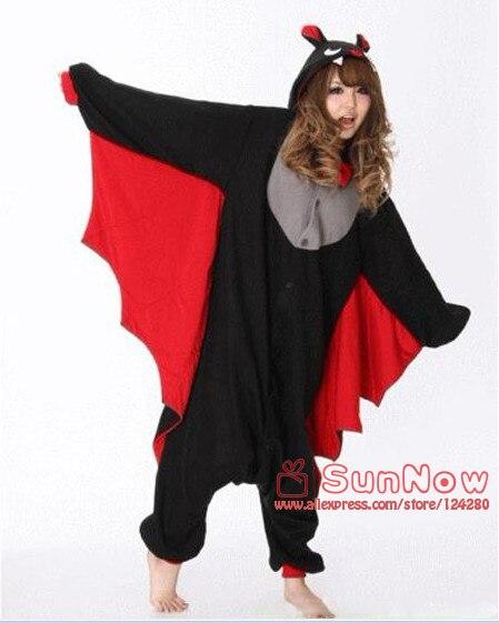 Горячая унисекс для взрослых животных пижамы для Для женщин Bat Костюмы для косплея Onesie Одна деталь Повседневные Вечерние платье флис - Цвет: Bat