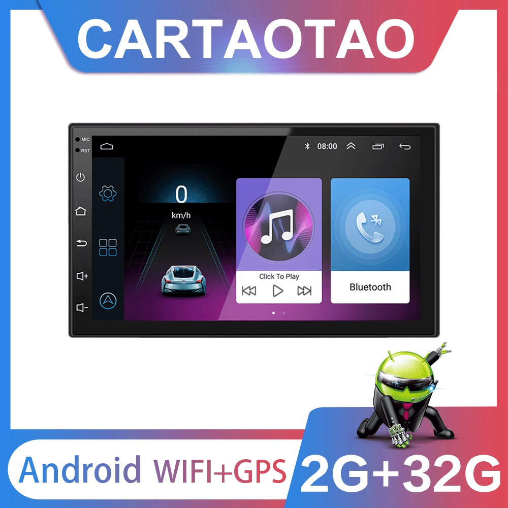 2G 32G 2DIN Android 8 1 GO Car DVD Multimedia Player for Volkswagen Nissan Hyundai Kia