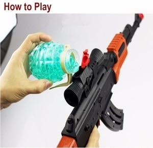 Image 3 - Classic AK 47 Assault Rifle Toy Gun Shooting Soft Bullet Water Absorbent Bullet Blaster Gun Toy Boys Best Gift